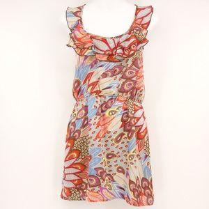 GLAM Mini Dress Sleeveless Open Back Ruffle 🌵